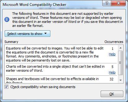 spasi brantakan dari microsoft word 2010 ke ms word 2007