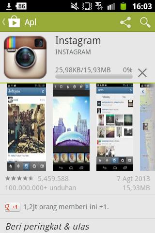 Instagram yang pengen didownload